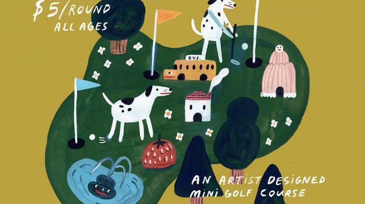 Des Moines Social Club debuts artist-designed mini golf course