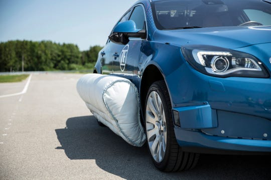 ZF side airbags will use cameras, radar and lidar to ignite moments before impact.