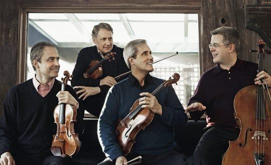 The Emerson String Quartet: Eugene Drucker, left, Philip Setzer, Lawrence Dutton and Paul Watkins.