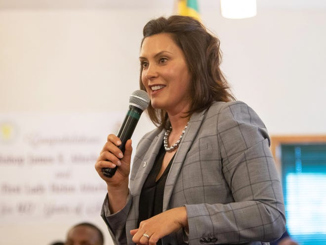 Gov. Gretchen Whitmer, who addressed residents of Benton Harbor at a special community meeting on June 5, was back in town Tuesday for talks on the district's future.