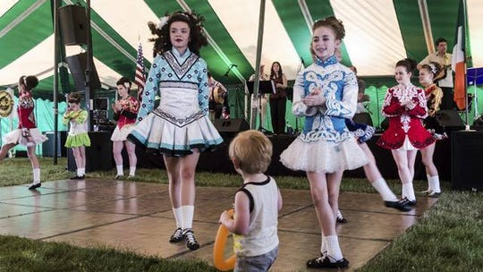 Irish dancers at the Motor City Irish Fest.