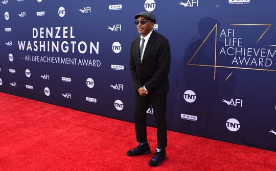 Spike Lee arrives at the 47th AFI Life Achievement Award honoring Denzel Washington.