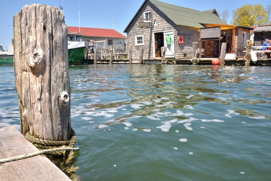 Leland's Fishtown is threatened by Lake Michigan's high water levels.