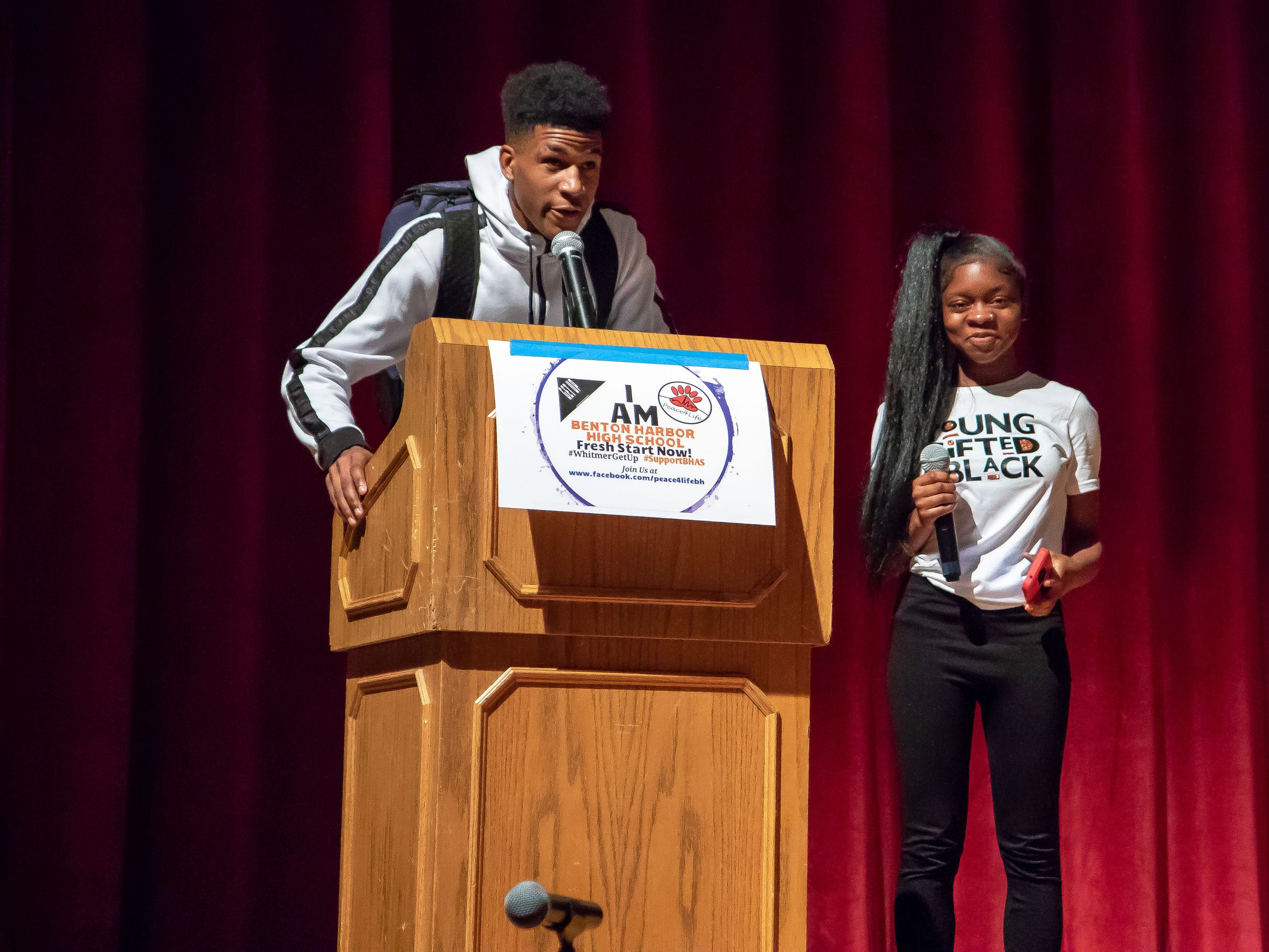 "Benton High sophomore Le'Coreon Travier addressed the governor last week, saying: ""Governor, you can't shut us down. How can you have a community without a high school?"""