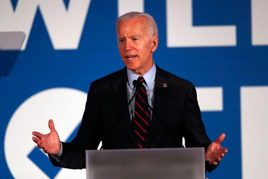 Democratic presidential candidate former Vice President Joe Biden speaks during the I Will Vote Fundraising Gala Thursday, June 6, 2019, in Atlanta.