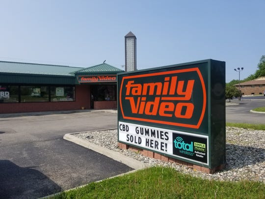 The Family Video in Waterford Township advertises that it now sells CBD-infused gummies and other products without the need for a prescription. More retailers are introducing such products made with hemp, after the federal government legalized the crop in December.