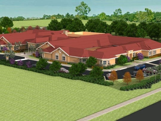 Rendering of Autumn Leaves memory care center before it was built in Estero.