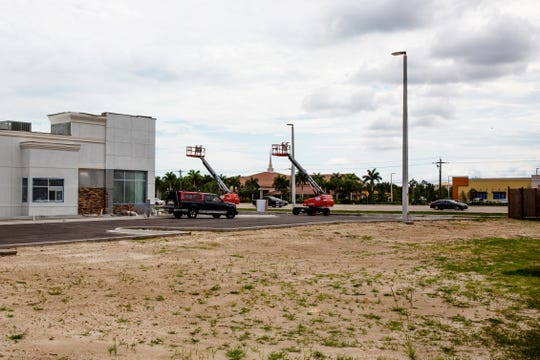 The Shops at Village Walk shopping center undergo construction in Fort Myers on Thursday, June 6, 2019. Five new businesses will be coming to the center near the intersection of Colonial Boulevard and I-75. All five businesses have direct competitors at Colonial Crossing.