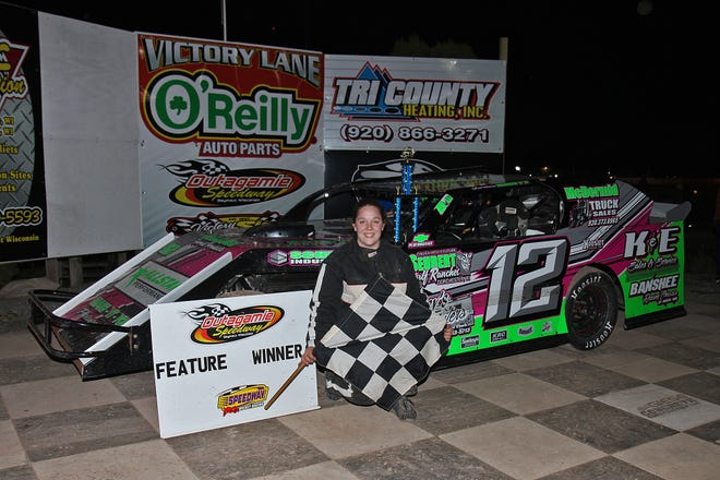 Despite being just 23 years old, Shawano's Jordan Bartz is a  local IMCA northern sportmod veteran. Bartz has three feature wins under her belt early in the season.