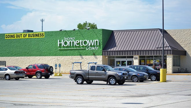The Shopko Hometown, seen on June 5, store in Oconto will close on June 23.