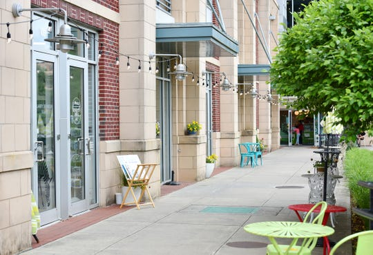 A row of art studios in Arts Crossing in downtown Greenville.