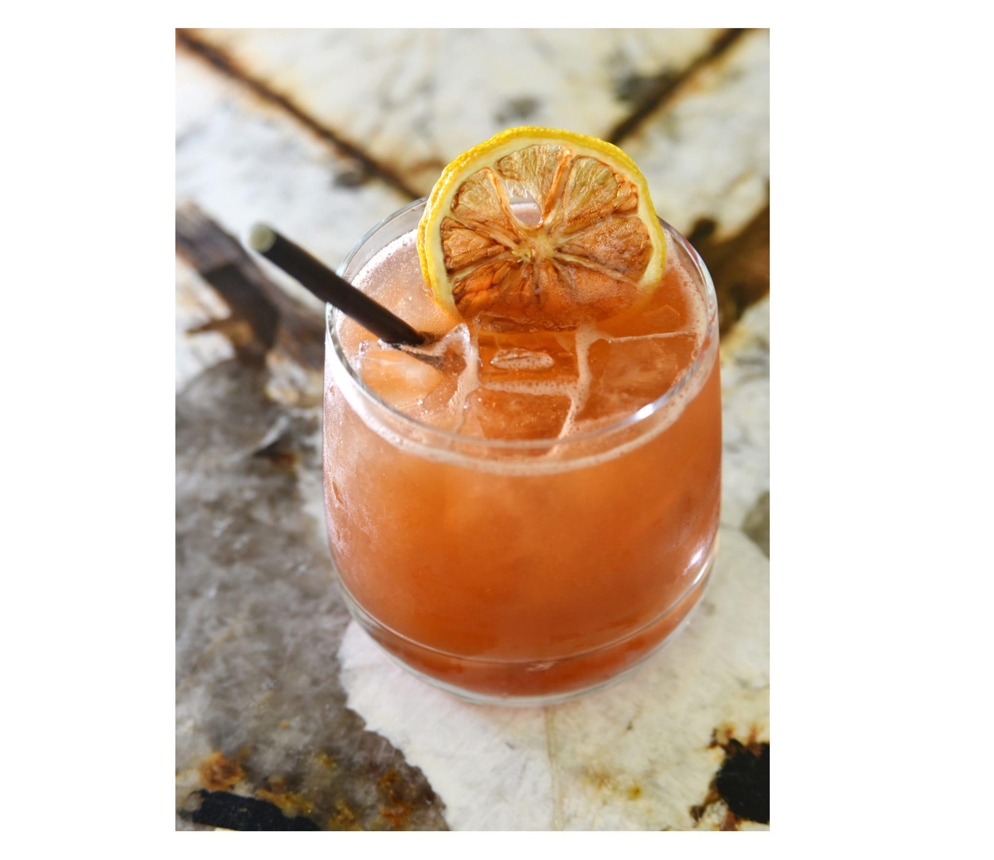 The Oak & Smoke cocktail from Oak & Honey in downtown Greenville.