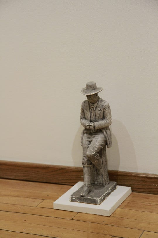 Humble said he found this cowboy placed in a spot on the floor of Price's home and decided to reflect its original placement in the museum.