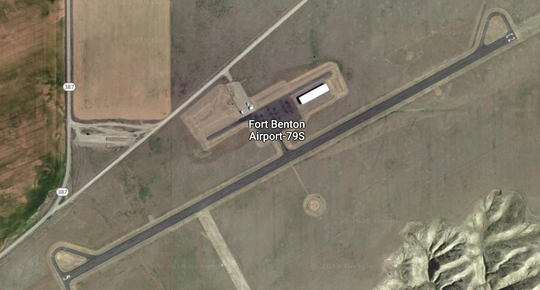 The Fort Benton Airport, as viewed by Google Maps, has been awarded a $1.1 million grant for upgrades.