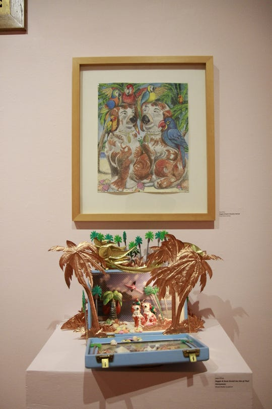 One of Price's pieces in the room displaying all the art she created