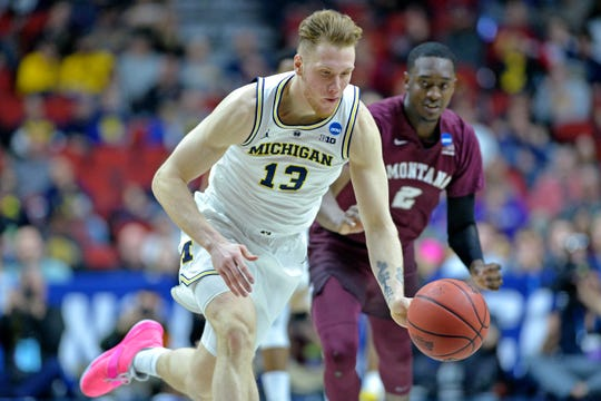Ignas Brazdeikis averaged 14.3 points and 5.4 rebounds a game last season for Michigan.
