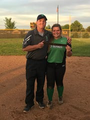 John Hershberger, a longtime Bremen softball assistant coach, is battling a rare form of cancer while he coaches his daughter Rylee.