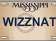 Mississippi rejected license plates: 2018