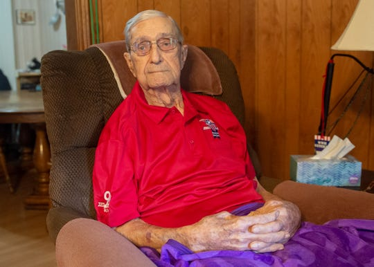 World War II Veteran Roldolphe Fabre is turning 101 years old Saturday, June 8, 2019. Mr Fabre is the oldest active Purple Heart recipient in the State of Louisiana. Thursday, June 6, 2019.