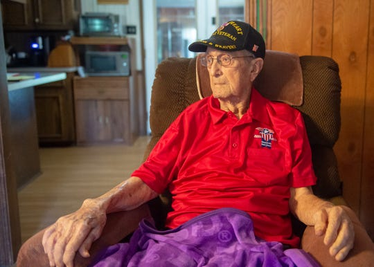 World War II Veteran Rodolphe Fabre is turning 101 years old Saturday, June 8, 2019. Mr Fabre is the oldest active Purple Heart recipient in the State of Louisiana. Thursday, June 6, 2019.