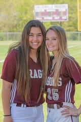 Taylor Smrt (left) is the softball player of the year
