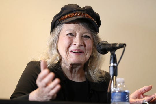Stars of yesteryear, including Angie Dickinson (pictured), Patrick Wayne, Chris Mitchum and Karolyn Grimes take the stage for a panel discussion during the Memphis Film Festival at Sam's Town Hotel & Gambling Hall in Tunica on Friday, June 7, 2019.