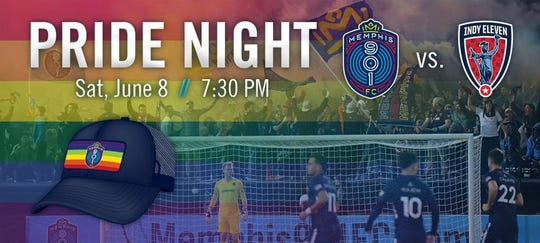 Memphis 901 FC will host its first ever Pride Night Saturday at AutoZone Park against Indy Eleven