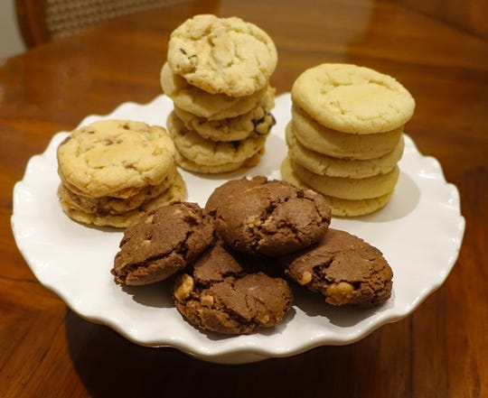 Most of Keven Riggle's cookies come from a single basic dough recipe that he adapts to create different flavors.