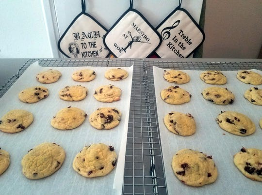 Parchment paper makes his large cookie baking projects much easier, according to Keven Riggle.