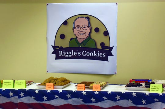 Keven Riggle's cookie assortment always includes gluten-free options.