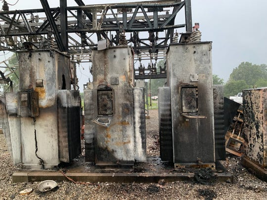The Southland Substation located on Pebble Creek Dr. in southern Mountain Home is a total loss after an overnight fire.