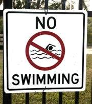 No swimming file photo.