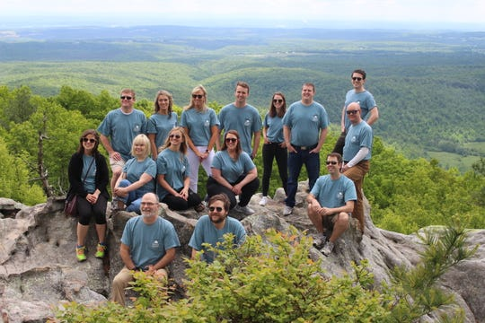 Comptroller Wilson (not pictured) hosts small groups of staff to visit the Justin P. Wilson Cumberland Trail State Park, his namesake, to enjoy the sites and talk about their experiences working for the office.