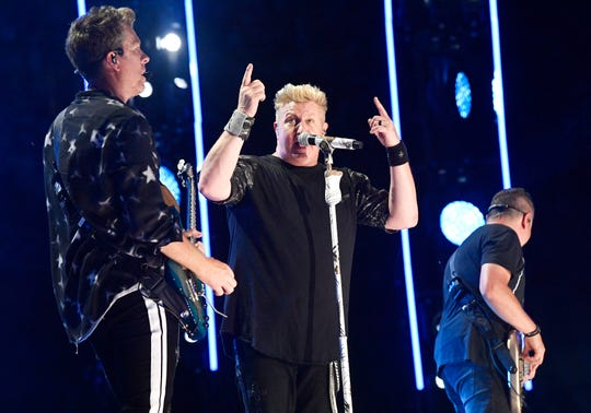 Rascal Flatts perform during the 2019 CMA Fest Thursday, June 6, 2019, at Nissan Stadium in Nashville, Tenn.