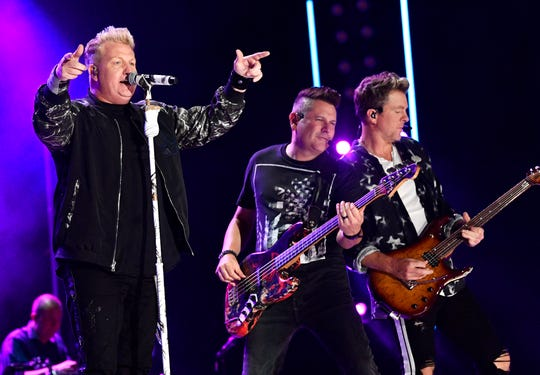 Rascal Flatts performs during the 2019 CMA Fest Thursday, June 6, 2019, at Nissan Stadium in Nashville, Tenn.