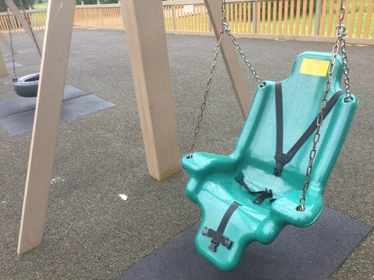 This swing at Wildwood Park in Granville is the same kind the Guard family is working to bring to four Pataskala parks.