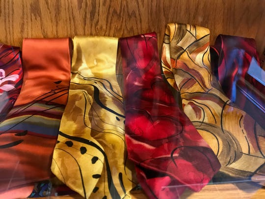 Greg Baron has 95 Jerry Garcia ties in his person collection and they are on display until the end of the month at Clifton's Allwood branch of the public library.