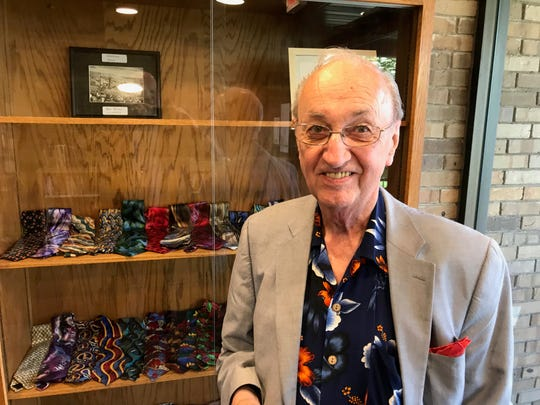 Greg Baron, who served as the piano tuner for Grateful Dead for almost a decade, has put on display his 95 Jerry Garcia ties.