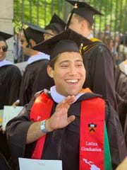 Isaiah Nieves Nieves at his Princeton graduation on June 4.