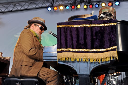 Dr. John performs at the Voodoo Experience in 2011 at New Orleans' City Park.