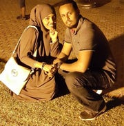 Abdikadir Mohamed has been detained at the Elizabeth Detention Center since December 2017. Here, he's pictured with his wife, Malyuun, a U.S. citizen who lives in Ohio.