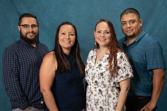 Left to right are Dominic Aragon, media production specialist; Jennifer Martinez, media production specialist senior; Karla Walton, communications specialist and Adrian Guzman, media operations and production specialist.