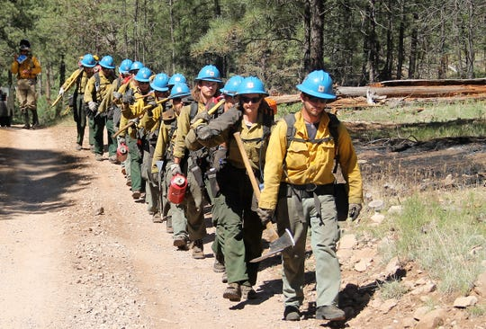 Lincoln National Forest hot shots team heads towards an ignition point June 7, 2019.
