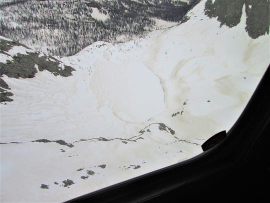 Flint Lake in the San Juan National Forest in southwest Colorado remains covered in several feet of snow on June 6.