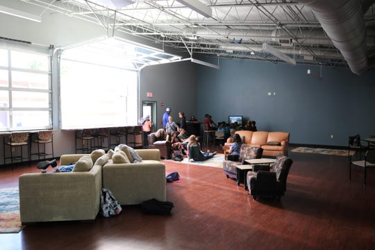 Teens and staff at the John Oliphant Taco Bell Teen Center at the Boys and Girls Club of Farmington enjoy the new space which opened on May 31.