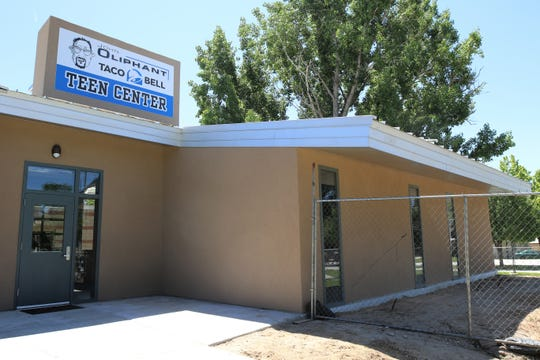The exterior of the John Oliphant Taco Bell Teen Center is nearly finished on June 6 at the Boys and Girls Club of Farmington.