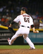 Yoshihisa Hirano's walk-up music is No. 1 among Diamondbacks players.
