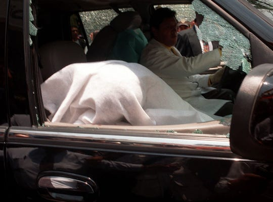 Paco Stanley fue acribillado a balazos cuando se retiraba de un restaurante a bordo de su automóvil.