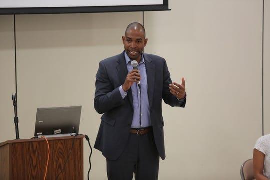 Students listened as Congressman Antonio Delgado addressed their concerns and ideas at Arlington High School on June 6, 2019.