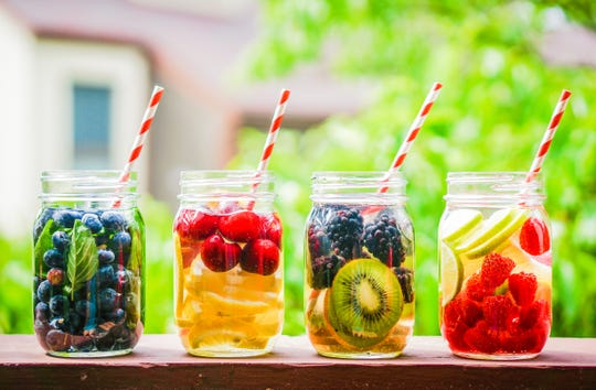 Add plenty of fluids to your diet in summer to stay hydrated. Natural fruits can add flavor to regular water and seltzer.